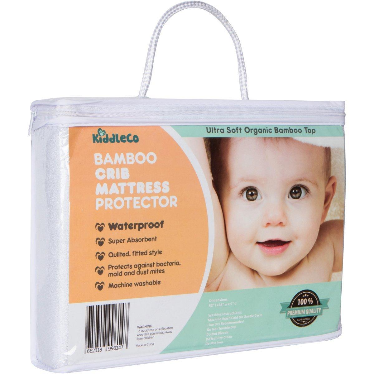 KiddleCo Waterproof Best Crib Mattress Pad Protector