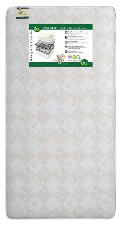Photo of the Serta Tranquility Eco Firm Crib and Toddler Mattress