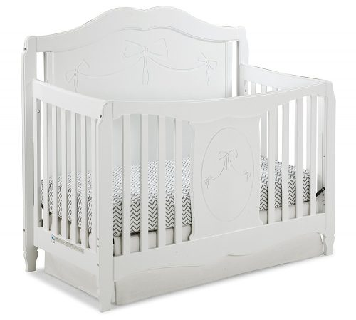 Stork Craft Princess 4 in 1 Fixed Side Best Convertible Crib