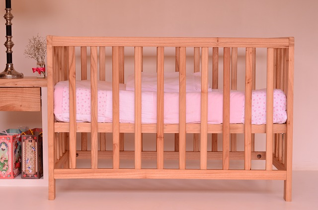 Picture of a baby crib